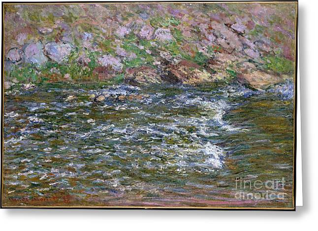 Rapids On The Petite Creuse At Fresselines Greeting Card by Celestial Images