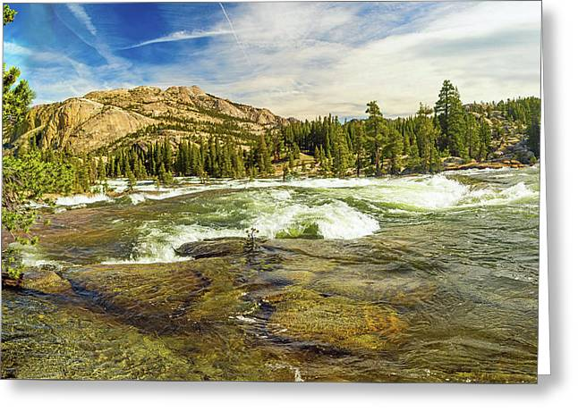 Rapids On The Tuolumne East Of Glen Aulin Greeting Card