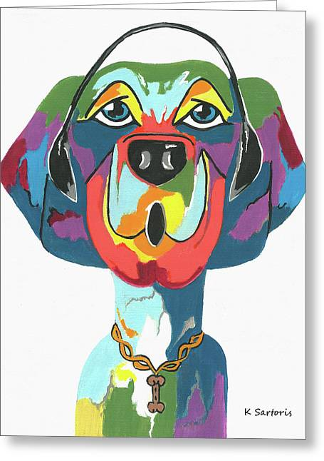 Rapping Rover - Funny  Dog Greeting Card