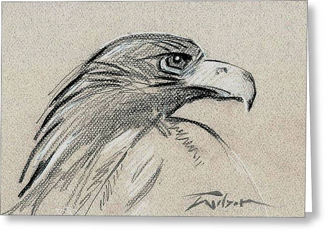 Raptor Two Greeting Card by Ron Wilson