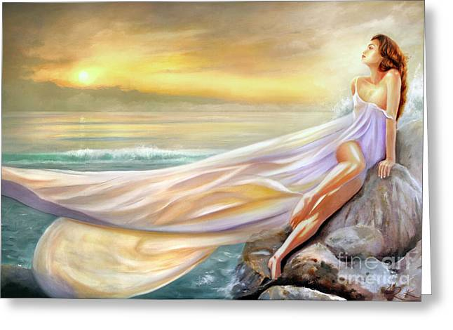 Rapture In Midst Of The Sea Greeting Card by Michael Rock