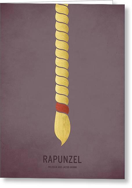 Rapunzel Greeting Card by Christian Jackson