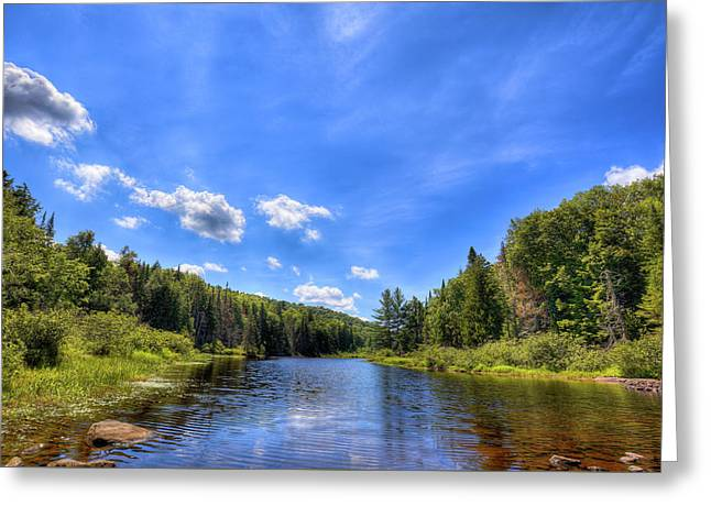 Raquette River Headwaters Greeting Card by David Patterson