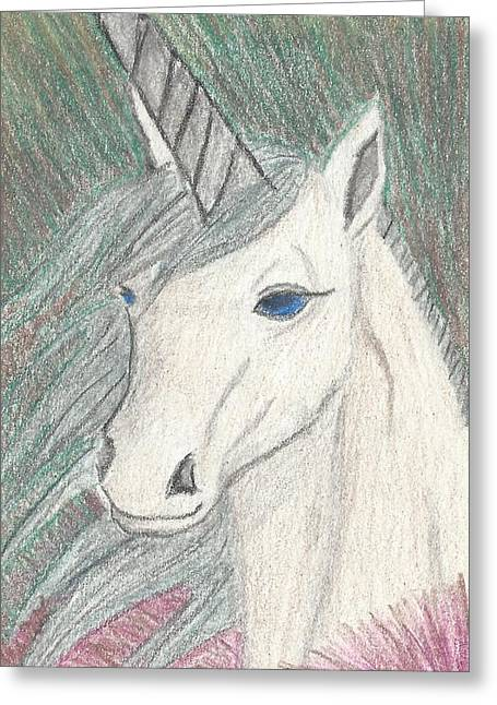 Rare As A Unicorn Greeting Card by Megan Crow