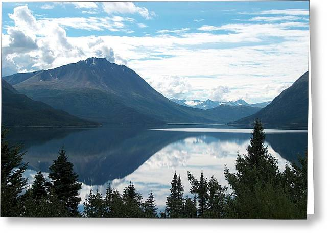 Rare Moment On Tutchi Lake Greeting Card by Janet  Hall