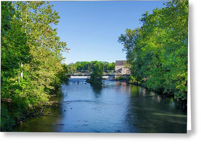 Raritan River - Clinton New Jersey  Greeting Card by Bill Cannon