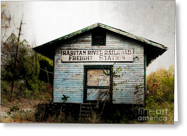 Raritan River Freight Station Greeting Card by Colleen Kammerer