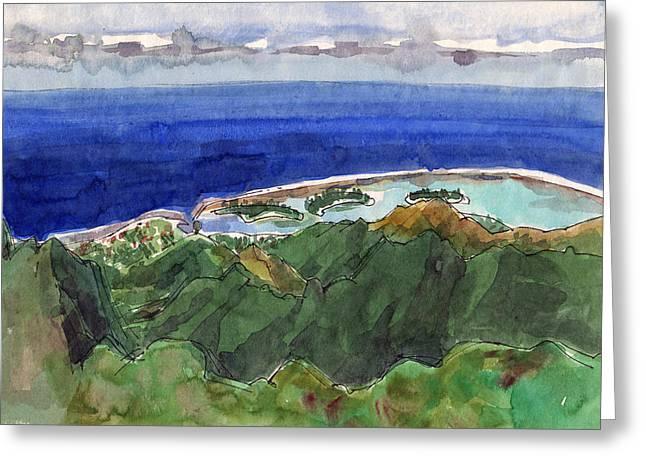 Rarotonga, View From Te Manga Greeting Card