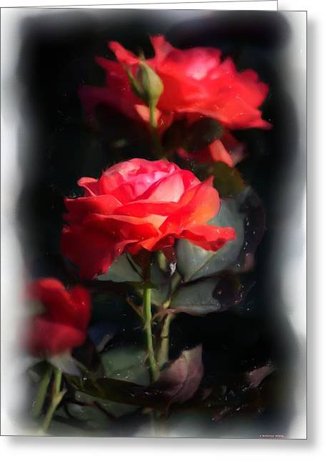 Greeting Card featuring the digital art r.'Artistry' 3035g by Brian Gryphon