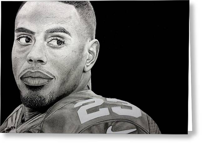 Rashad Jennings Drawing Greeting Card