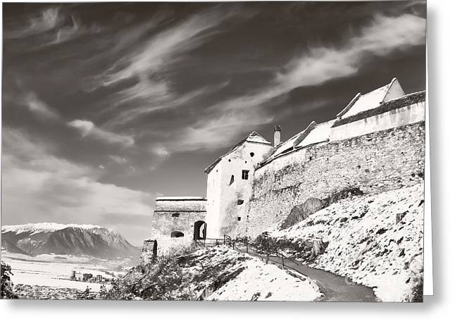 Rasnov Fortress Greeting Card by Gabriela Insuratelu