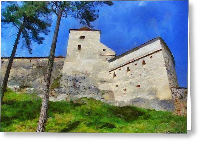 Rasnov Fortress Greeting Card
