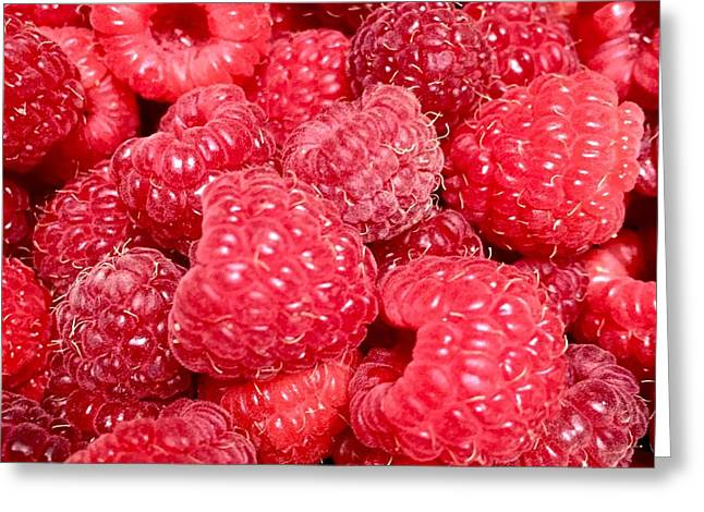 Greeting Card featuring the photograph Raspberries by Cristina Stefan