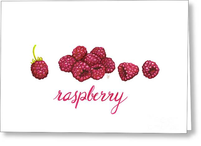 Greeting Card featuring the painting Raspberry by Cindy Garber Iverson