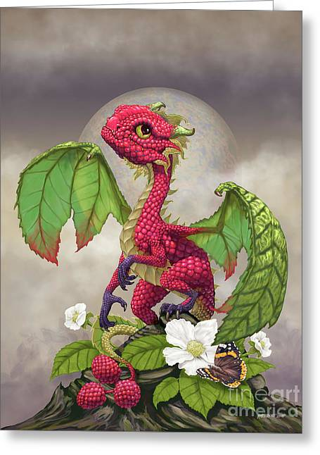 Raspberry Dragon Greeting Card by Stanley Morrison