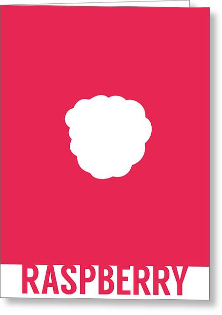Raspberry Food Art Minimalist Fruit Poster Series 011 Greeting Card
