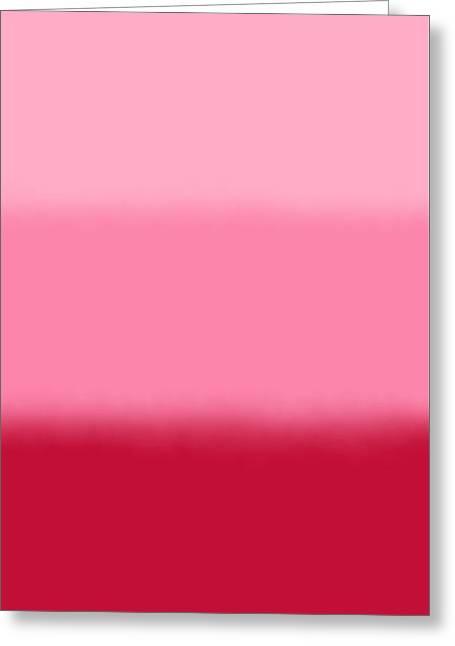 Raspberry Sorbet - Rect Block Greeting Card by Custom Home Fashions