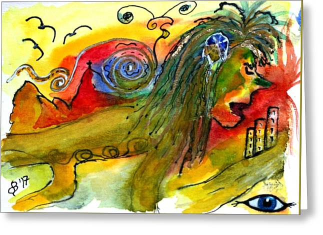 Lion In Civilization Greeting Card by Dagmar Batyahav
