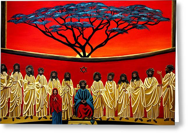 Rastafarian Last Supper Greeting Card