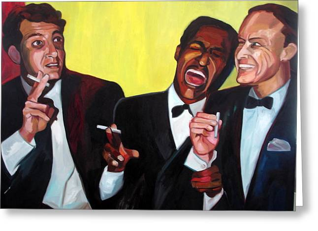 Rat Pack Greeting Card by Carmen Stanescu Kutzelnig