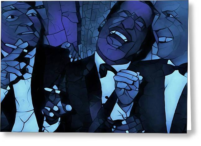 Rat Pack Cool Graphic Abstract Greeting Card