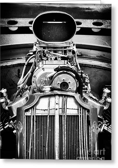 Rat Rod Power Greeting Card by Tim Gainey