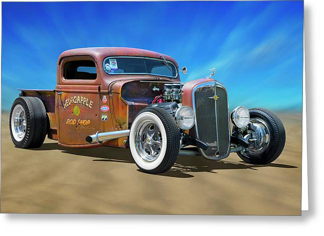 Greeting Card featuring the photograph Rat Truck On The Beach by Mike McGlothlen