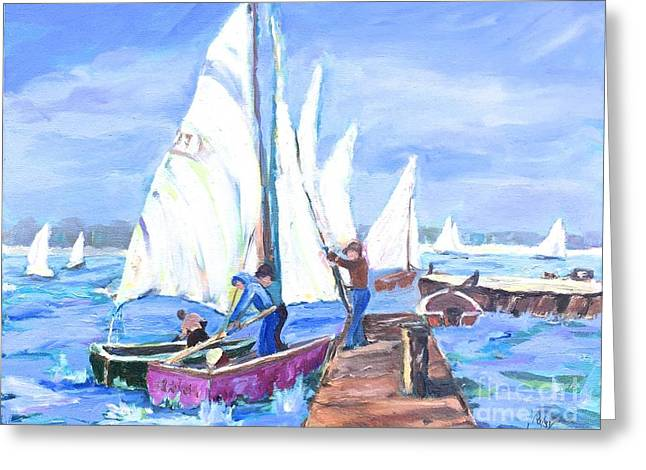 Rather Be Sailing Greeting Card