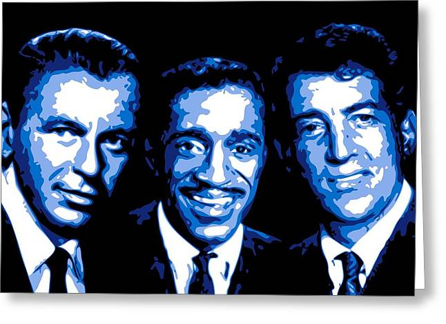 Frank Sinatra Greeting Cards - Ratpack Greeting Card by DB Artist