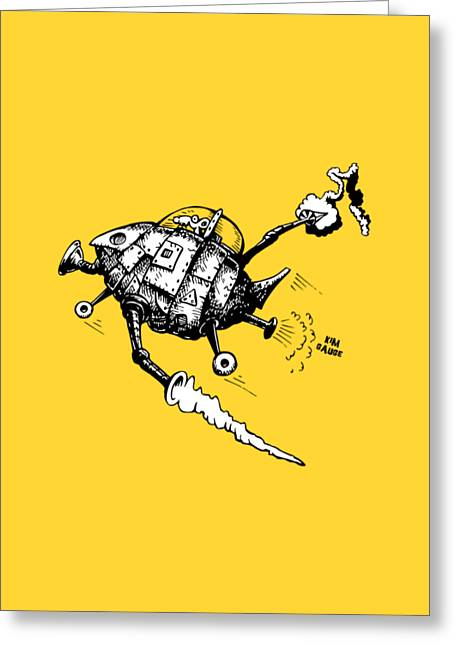 Rats In Space Greeting Card