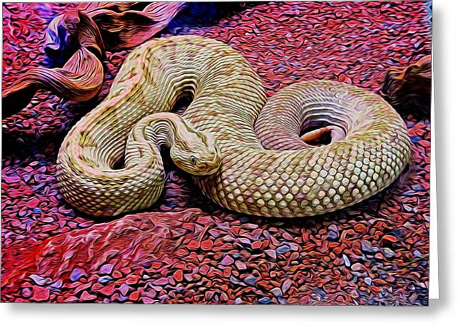 Rattlesnake In Abstract Greeting Card