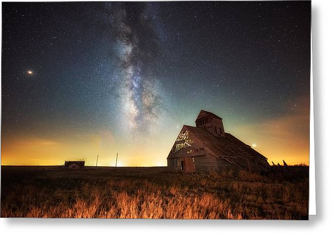 Rattlesnake Silo Barn Greeting Card