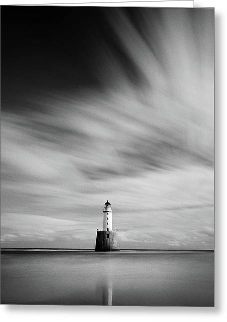 Rattray Head Lighthouse II Greeting Card by Dave Bowman