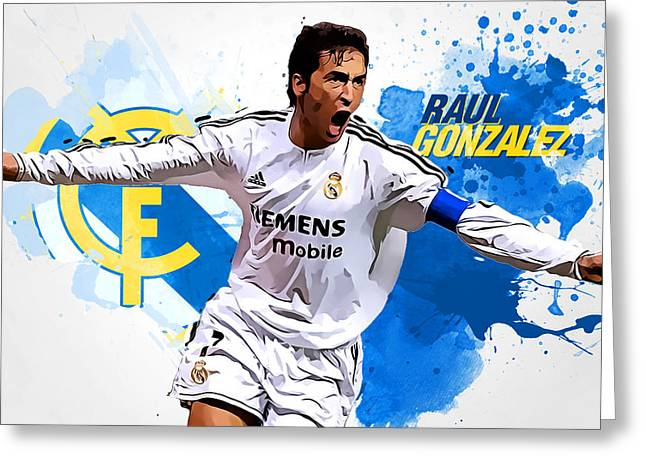 Raul Gonzales Greeting Card by Semih Yurdabak