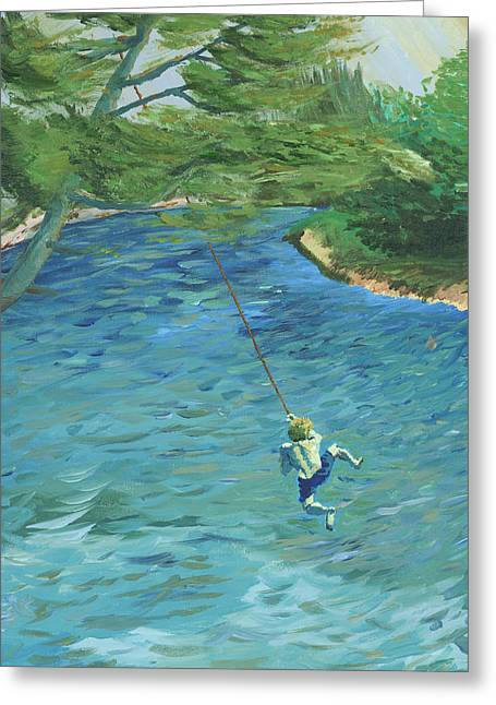 Raurri The Sandbanks And The Tree That Broke My Heart Greeting Card by Denny Morreale