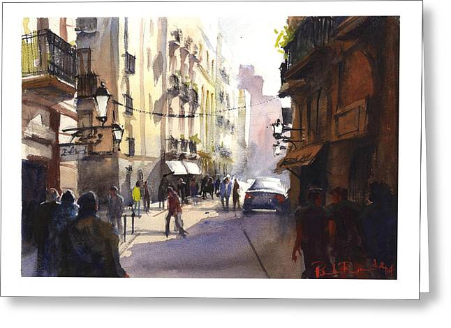 Raval Barcelona Greeting Card by Paul Raymonde