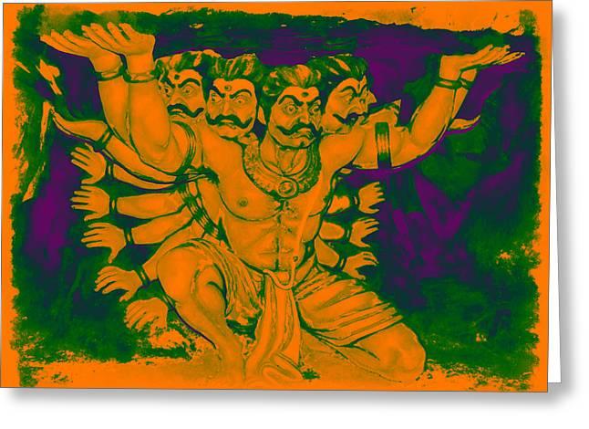 Ravana Greeting Card by Bliss Of Art