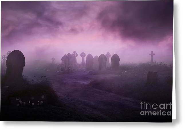Rave In The Grave Greeting Card