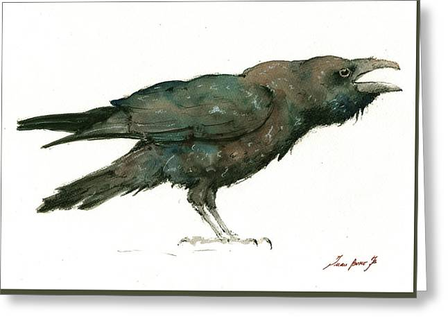 Raven Bird Greeting Card