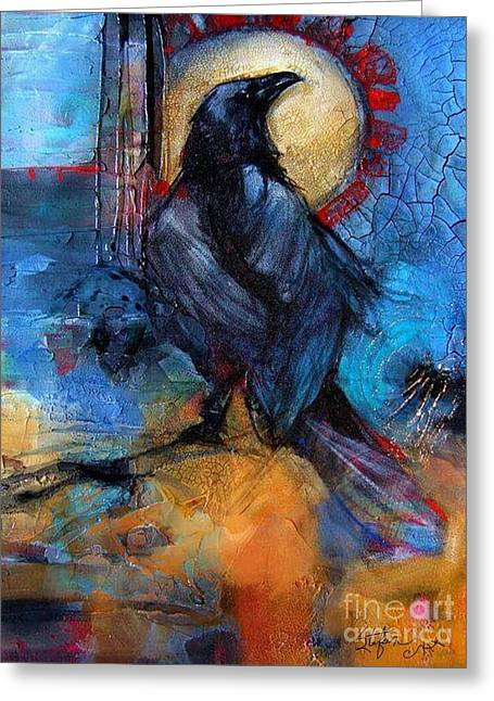 Raven Blue Greeting Card
