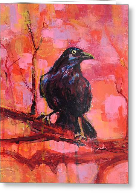 Raven Bright Greeting Card