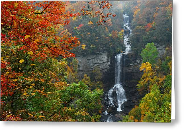 Raven Cliff Falls Greeting Card