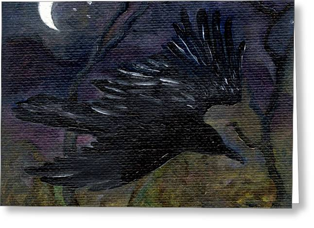 Raven In Stars Greeting Card