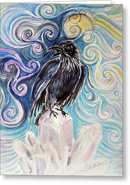 Raven Magic Greeting Card