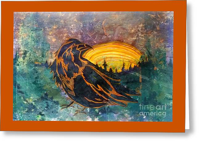 Raven Of The Woods Greeting Card