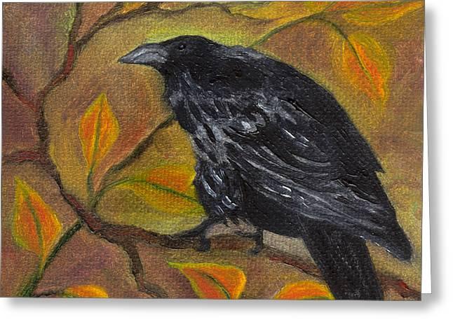 Raven On A Limb Greeting Card