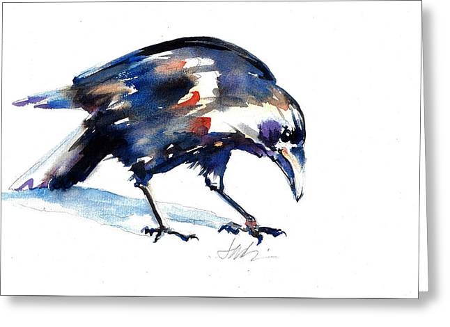Raven Shadow From Vancouver Greeting Card