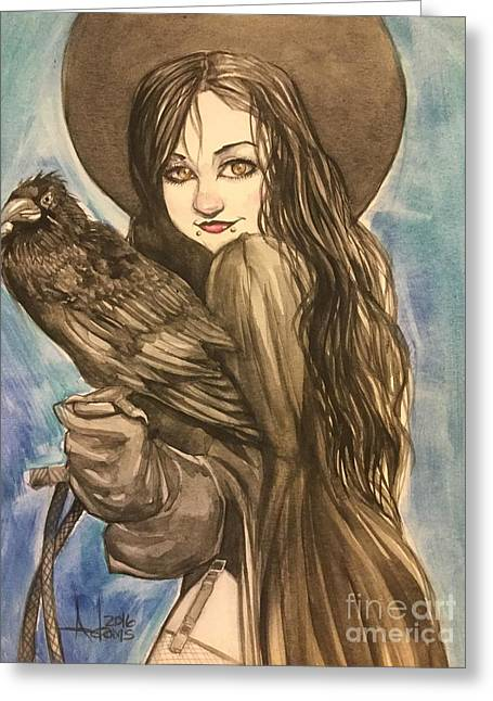 Raven Witch Greeting Card