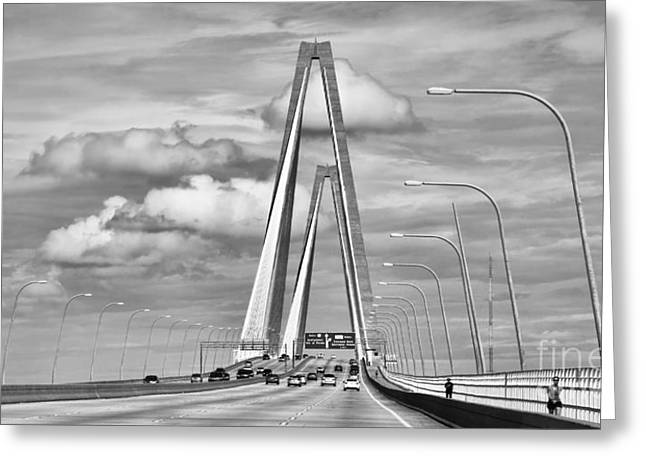 Ravenal Bridge  Bw  1109 Greeting Card
