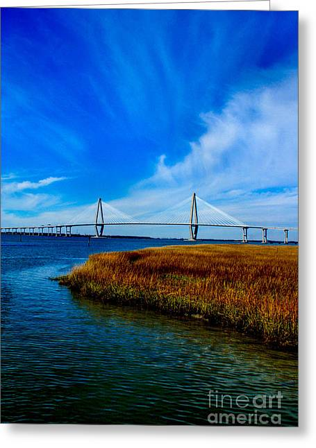 Ravenal Bridge Charleston South Carolina Greeting Card